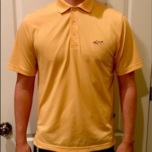 Greg Norman Golf Polo Size Small Yellow Play Dry